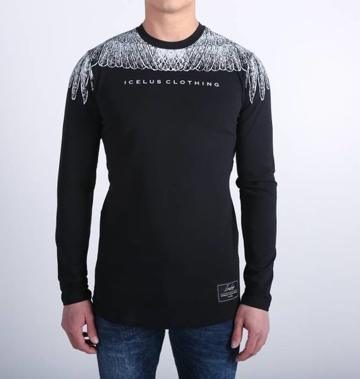Icelus Clothing Wing Longsleeve Black/White