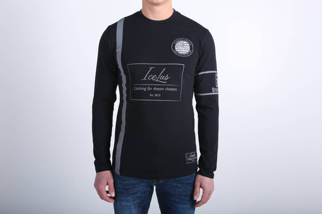 Icelus Clothing Football Jersey Black