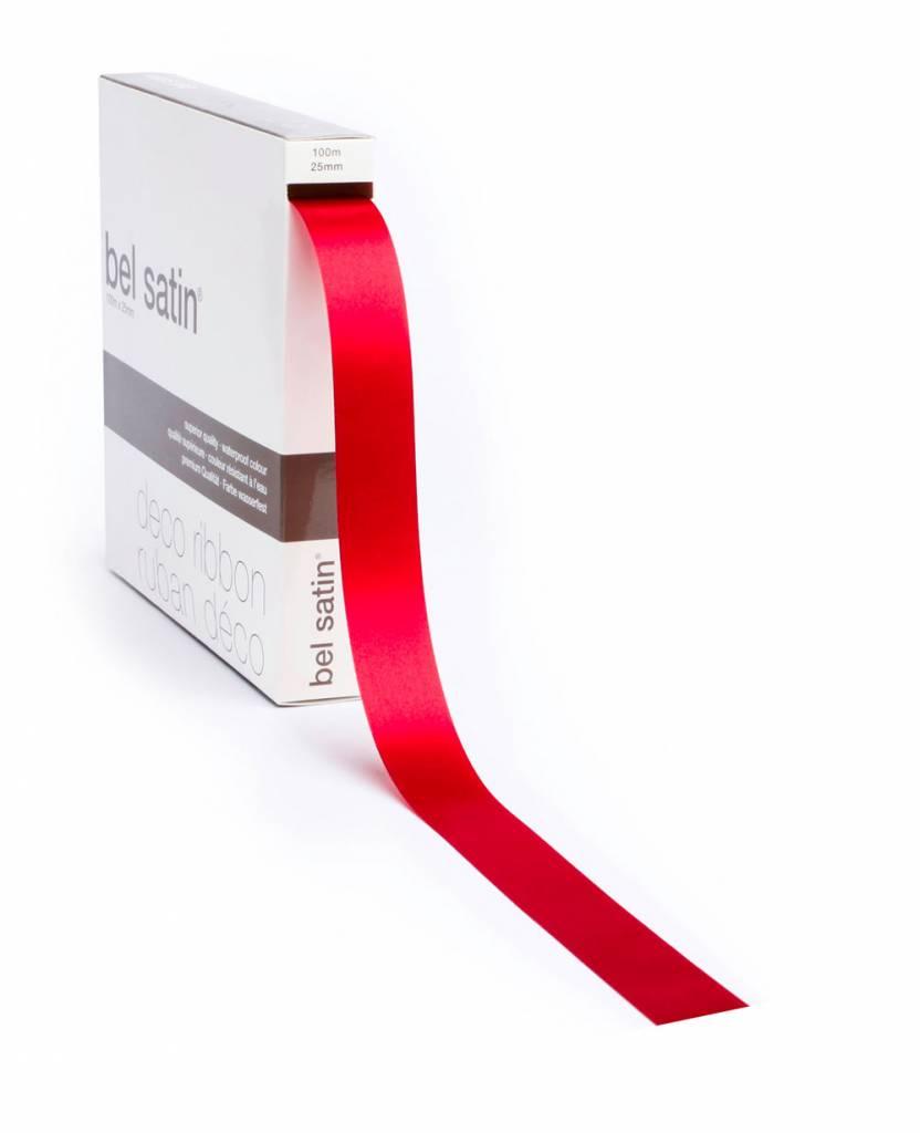 Bel Satin lint - Red