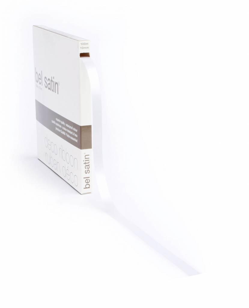 Bel Satin ruban - White