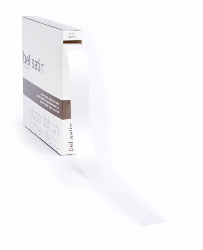 Bel Satin ribbon - White