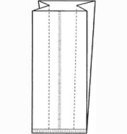 Polypropylen Beutel mit gefaltete Seiten - 1000 Stück