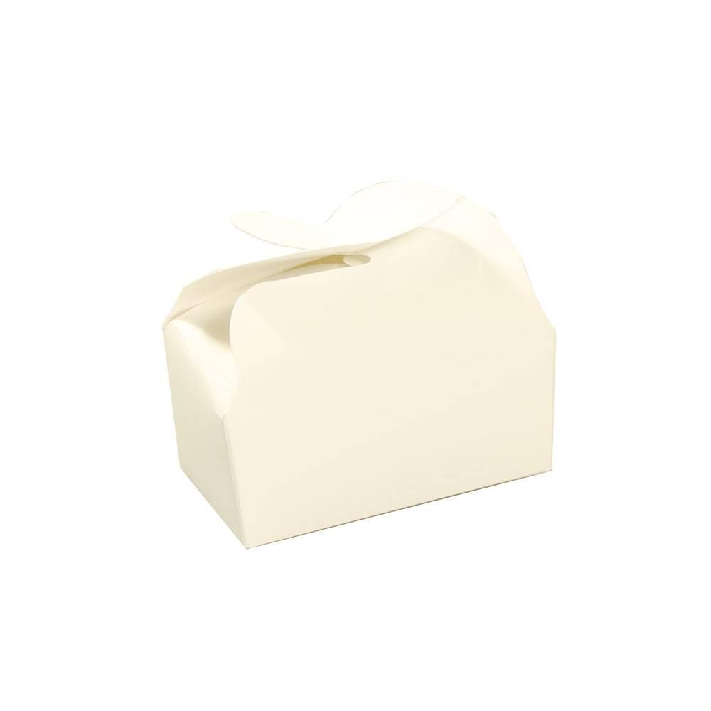 Ballotin voor 2 bonbons - wit - 65 * 40 * 30 mm - 100 stuks