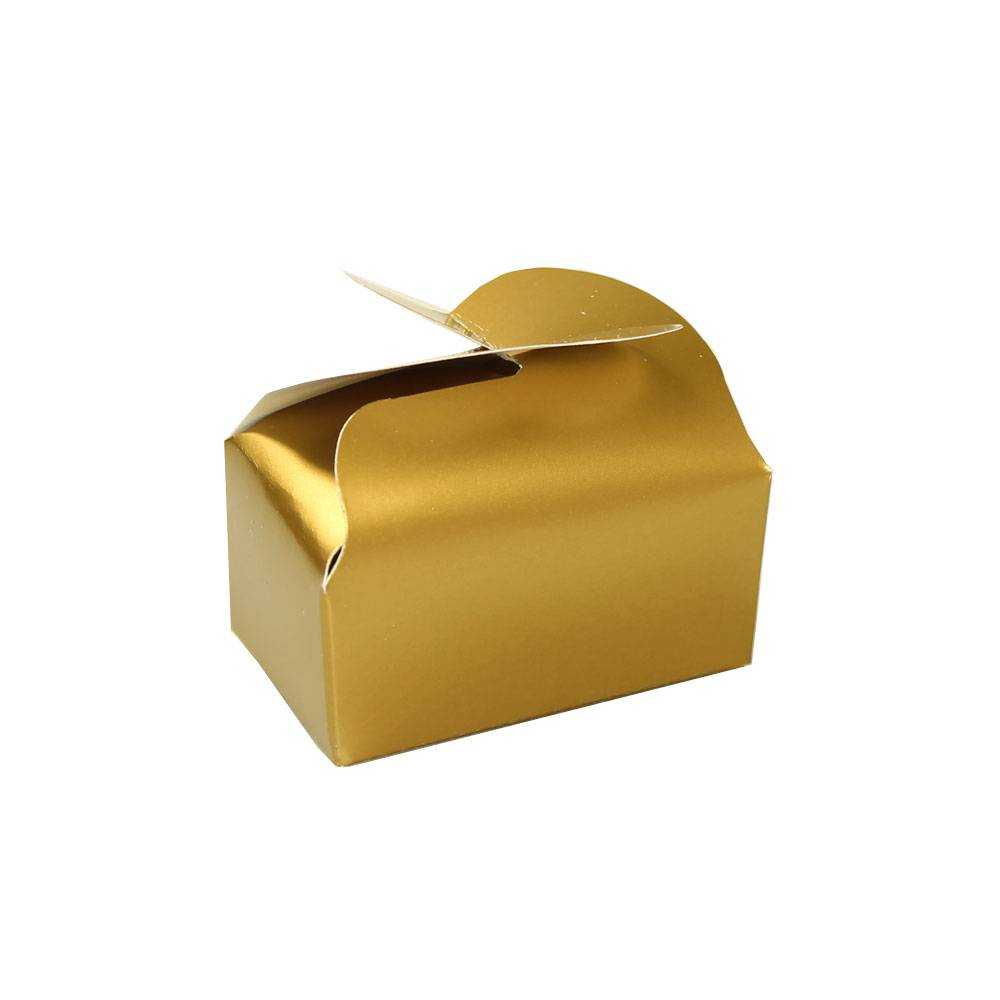 Pour vous - ballotin voor 2 bonbons - goud - 65 * 40 * 30 mm - 100 stuks