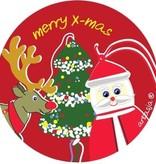 Etikett Merry Christmas - 45mm - 50 Stück