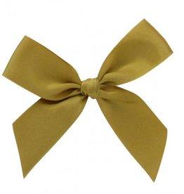Satijn strikje met plakkertje Gold -  7,5*7,5cm - 100 stuks