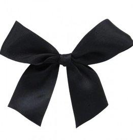Satijn strikje met plakkertje Black 6*6cm - 200 stuks