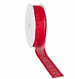 Organza satin edge Band - Red