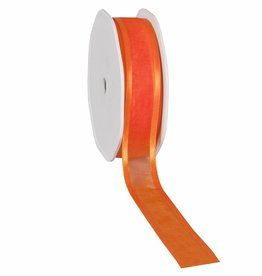 Organza satin edge Band - Orange