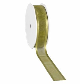 Organza satin edge Band - Moss