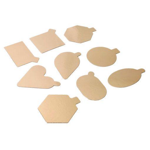 Gold Mousse Kuchenboden - 1000 Stück