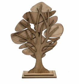Wooden Flowertree with 8 pendants in white