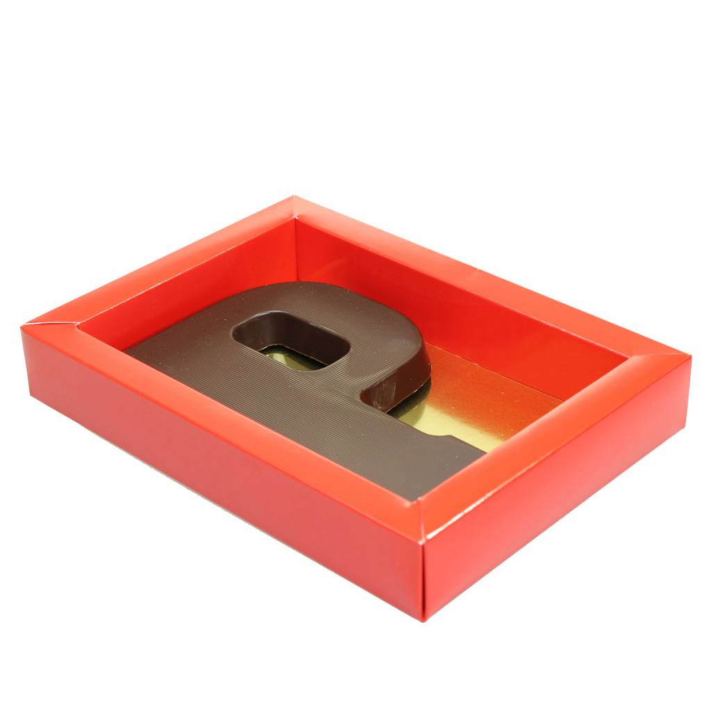 Red box with transparant lid