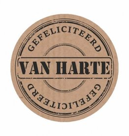 """Etiket Kraft """"Van Harte Gefeliciteerd"""""""