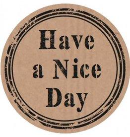 "Etikett Kraft ""Have a Nice Day"""