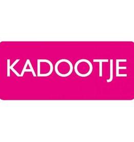 """Etiket  """"Kadootje""""  fuchsia"""