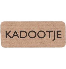"""Etiket  Kraft """"Kadootje"""""""