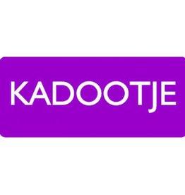 """Etikett """"Kadootje"""" Violett"""
