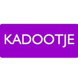"Sticker ""Kadootje"" purple"