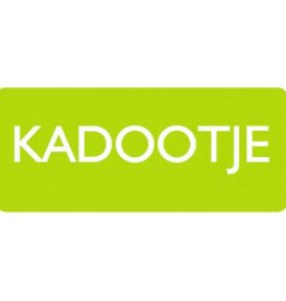 "Sticker ""Kadootje"" Lime"