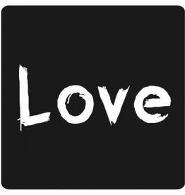 "Etikett  Tafel ""Love"""