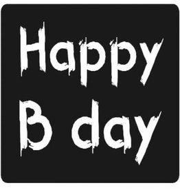 """Etiket Krijtbord """"Happy Birthday"""""""