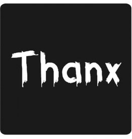 "Sticker blackboard "" Thanx"""