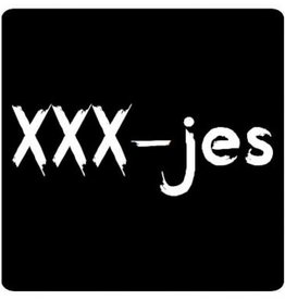 "Sticker blackboard "" Xxx-jes"""