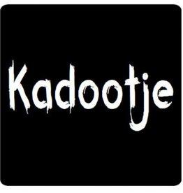 """Etikett  Tafel """"Kadootje"""""""