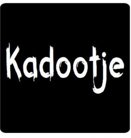 "Sticker blackboard "" Kadootje"""