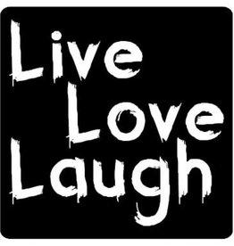 "Etiket Krijtbord ""Live Love Laugh"""
