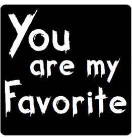 "Etiket Krijtbord ""You are my Favorite"""