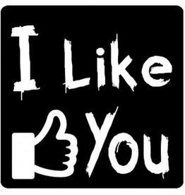 """Label  tableau noir """"I Like You"""""""