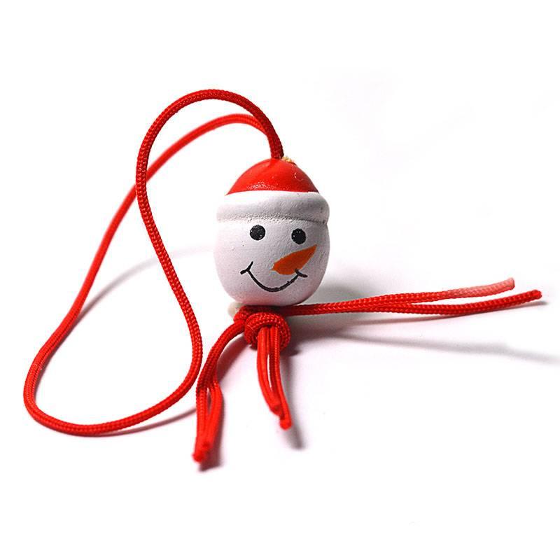 Pendant Snowman head 16mm - 50 pieces