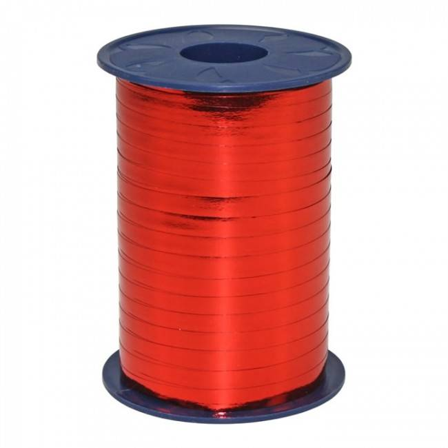 Ribbon curly - Red Metallic