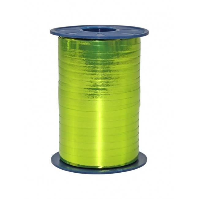 Ribbon curly - lime Metallic