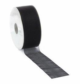 Organza ribbon - Black