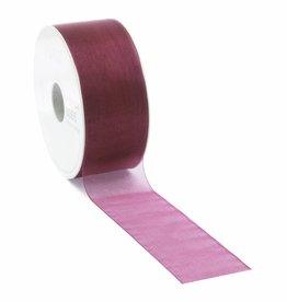 Organza ribbon wired - Fuchsia