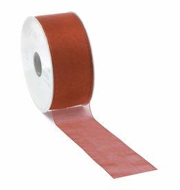Organza lint met draad - Red