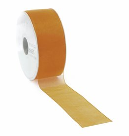 Organza ribbon wired - Orange