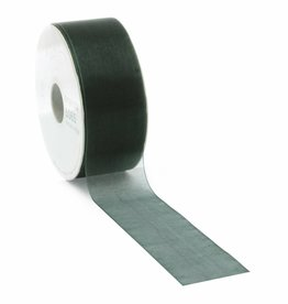 Organza ribbon wired - Dark Green