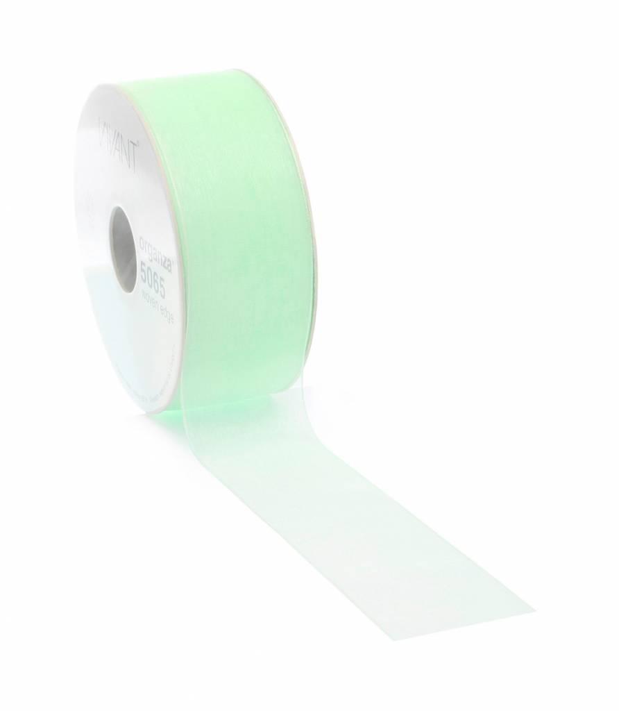 Organza ribbon wired - Mint