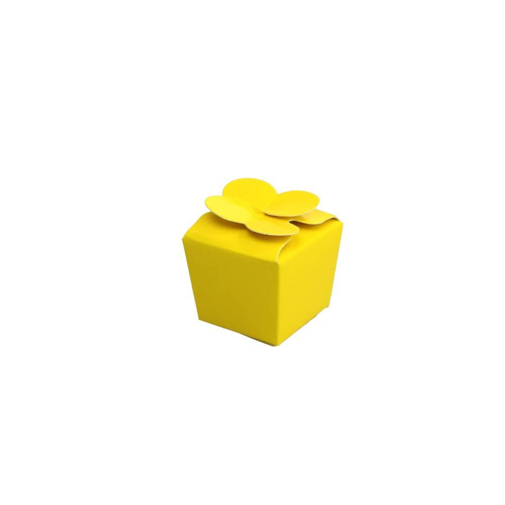 Mini Ballotin for 1 chocolate - 30*30*30 mm - glossy yellow -100 pieces