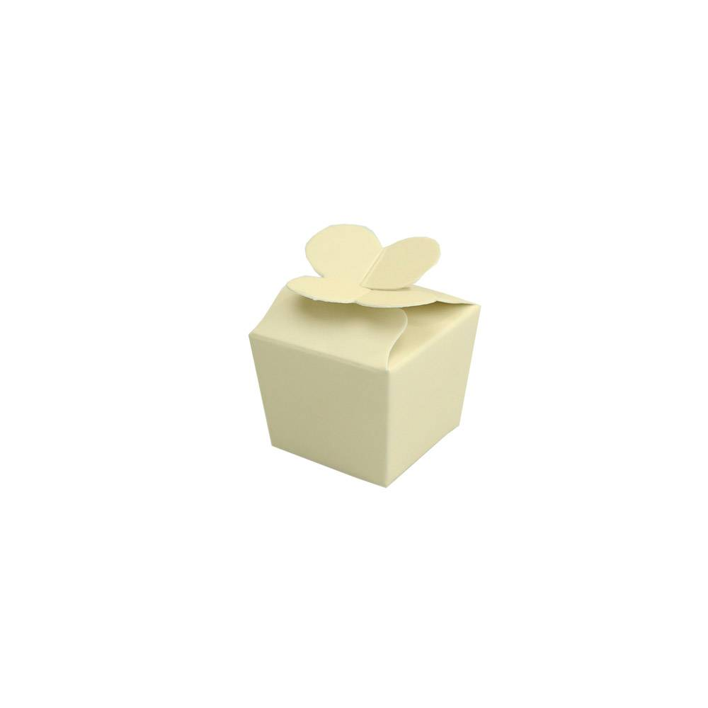 Mini Ballotin for 1 chocolate - 30*30*30 mm - cream -100 pieces