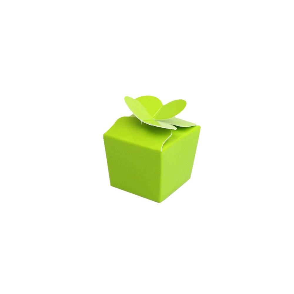 Mini Ballotin for 1 chocolate - 30*30*30 mm - glossy lime -100 pieces