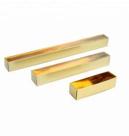 Cajas transparentes bombón trufado oro con tapa transparantes
