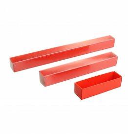 Cajas transparentes bombón trufado rojo con tapa transparantes