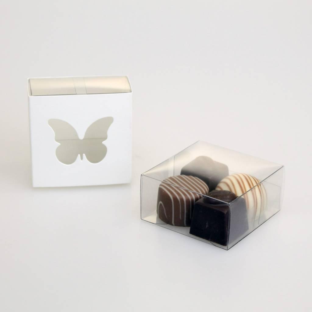 Boîte coulissante papillon blanc - 200 pièces