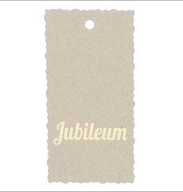 "Kadokaartje ""Jubileum""  - Natural Paper Gold"