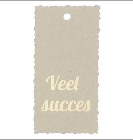 "Kadokaartje ""Veel succes""  - Natural Paper Gold"